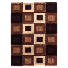 Signature Square Brown Shag Rug