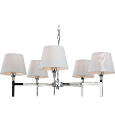 Transition 5 Light Chandelier in Polished Stainless Steel