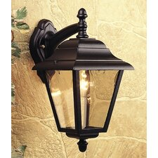 4 Panel Outdoor Wall Lantern in Black