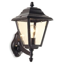 Outdoor Four Panel Wall Lantern in Black
