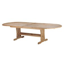 Geneva Teak Oval Double Extension Dining Table