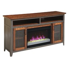 """Landis 60"""" TV Stand with 26EF031GRP Electric Fireplace"""