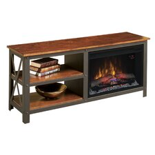 """Grainger 55"""" TV Stand with 26EF031GRP Electric Fireplace"""