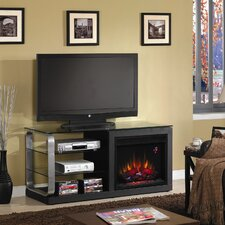 "Luxe 52"" TV Stand with Electric Fireplace"