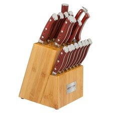 Crimson Series 18 Piece Knife Block Set