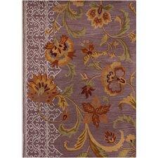 Bajrang Purple Floral Rug