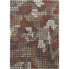 Gagan Brown Abstract Area Rug