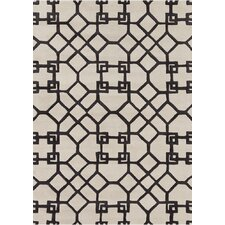 <strong>Chandra Rugs</strong> Davin White / Grey Geometric Rug