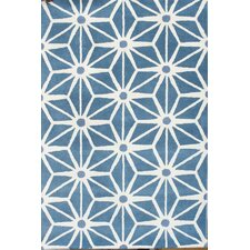 <strong>Chandra Rugs</strong> Davin Blue Geometric Rug