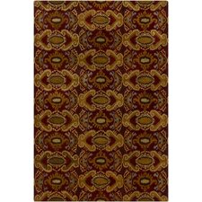 Rupec Brown/Red Abstract Area Rug