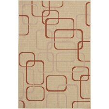 Ryan Beige Geometric Indoor/Outdoor Rug