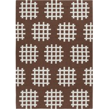 Lima Brown/White Abstract Rug