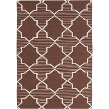 <strong>Chandra Rugs</strong> Lima Brown/White Geometric Rug