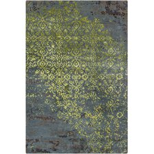 Rupec Grey/Green Abstract Area Rug