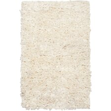 Paper Shag White Area Rug (Set of 2)