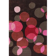 Avalisa Black/Pink Area Rug