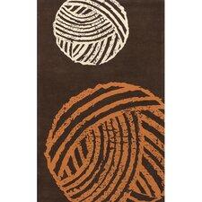 Fenja Brown/Orange Area Rug