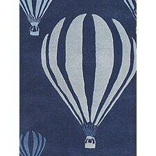 Kids Balloon White/Blue Kids Rug