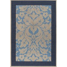 Plaza Blue/Ivory Indoor/Outdoor Rug