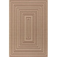 Plaza Maroon Brown Indoor/Outdoor Area Rug