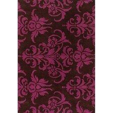 Venitian Black/Pink Area Rug