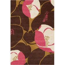 Amy Butler Field Poppy Pink Area Rug