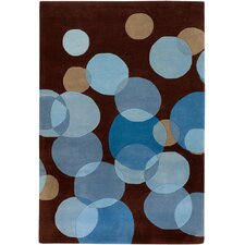 Avalisa Brown/Blue Area Rug