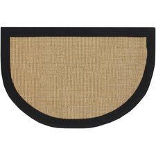 Half Moon Black/Tan Area Rug