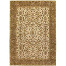 Cesta Ivory / Brown Area Rug