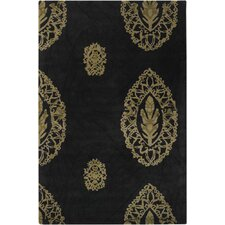 Dharma Black/Tan Area Rug