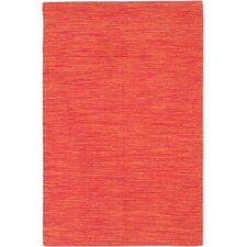 India Orange Area Rug