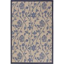 Plaza Blue/Beige Floral Rug