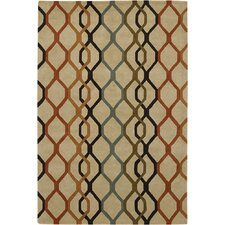 Rowe Chain Tan Area Rug