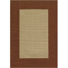 Safari Rust Border Rug