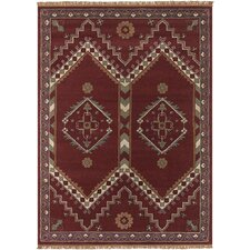 ANS ZigZag Red Area Rug