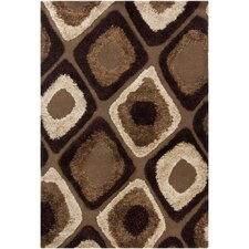 Astrid Brown/Tan Geometric Area Rug