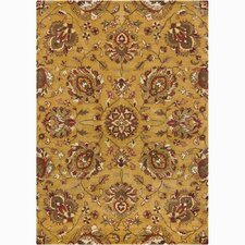 Bajrang Gold/Yellow Area Rug