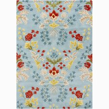 Bajrang Blue/Yellow Floral Area Rug