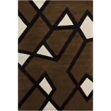 Hanu Brown/Tan Geometric Area Rug