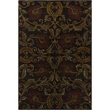 INT Brown Floral Area Rug