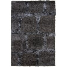 <strong>Chandra Rugs</strong> Areva Shag Black Rug