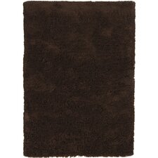 <strong>Chandra Rugs</strong> Bancroft Shag Dark Brown Rug