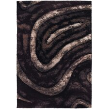 <strong>Chandra Rugs</strong> Flemish Shag Brown Rug