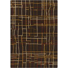 Gagan Dark Brown Area Rug