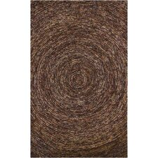 <strong>Chandra Rugs</strong> Galaxy Dark Brown Rug