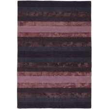 Gardenia Blue/Purple Stripes Area Rug