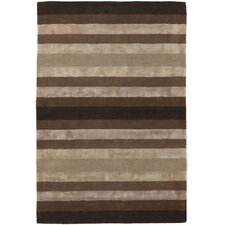 Gardenia Brown/Tan Stripes Area Rug