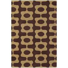 <strong>Chandra Rugs</strong> Inhabit Designer Brown/Tan Rug