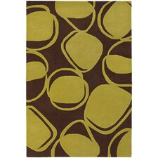 <strong>Chandra Rugs</strong> Inhabit Designer Brown/Green Rug