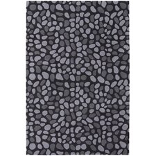 <strong>Chandra Rugs</strong> Inhabit Designer Charcoal Rug